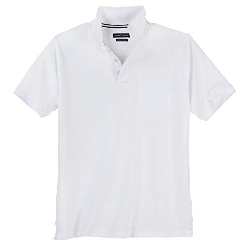 Polo-Shirt Herren Übergröße weiß Casa Moda, XL Größe:5XL