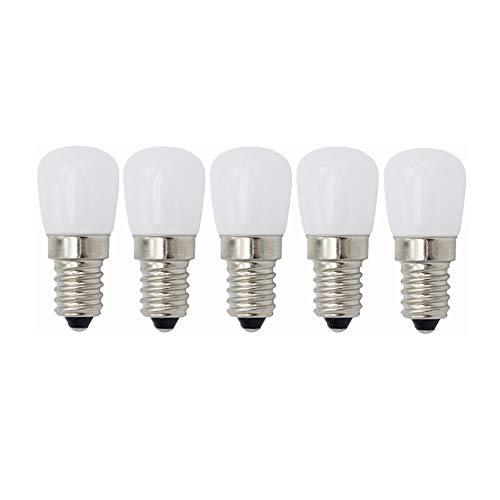 Ampoule à LED LED E14 - Petites ampoules à vis Edison, 3W (équivalent à 20W), for réfrigérateur avec réfrigérateur, machine à coudre, éclairage de hotte de cuisinière 220V [Classe énergétique A ++], 5