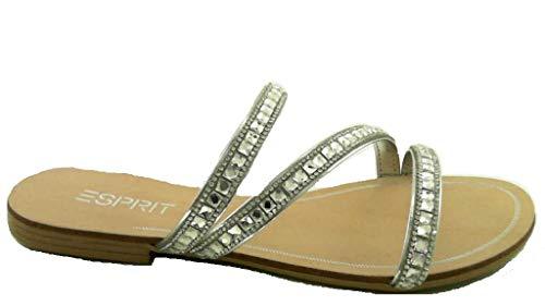 ESPRIT Damen Nil Juwel Slide Pantoletten (Silber 090, Numeric_37)