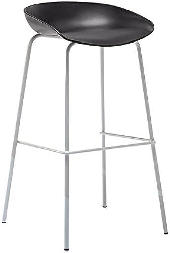 MENA Home Barhocker moderner einfacher hoher Schemel Hauptbarhocker Barhocker Barhocker des festen Holzes (Farbe   Schwarzund Weiß)