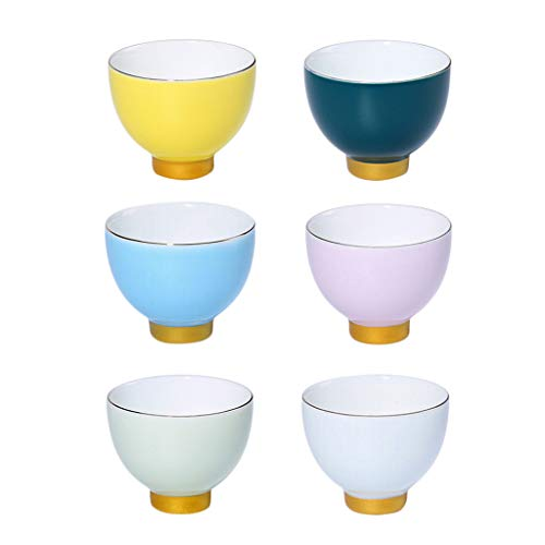 Baoblaze Juego de Tazas de Artesanía de Caja de Regalo de Tazas de Té de Porcelana de Cerámica para Té Chino de Kung Fu