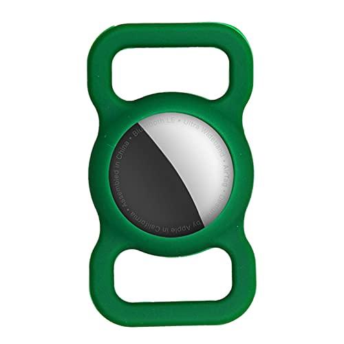 Silikonhülle Für AirTag GPS-Tracking-Finder Mit Schlüsselanhänger Für Hundehalsband Anti-Verlust-Silikon-Schutzhülle Kompatibel Mit AirTag-Finder, Anti-Kratz-Silikon-Airtags-Case-Tracker-Halter