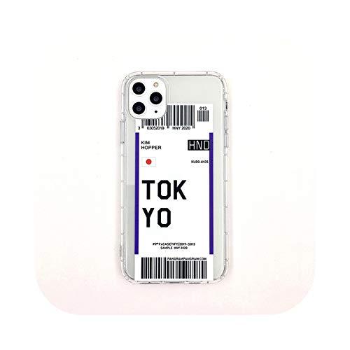 Carcasa para iPhone 7, carcasa con etiqueta de viaje con diseño de país claro para iPhone 11 Pro Max 7 8 6 6S Plus X XR XS Max con bloqueo de vol-8-para iPhone 11