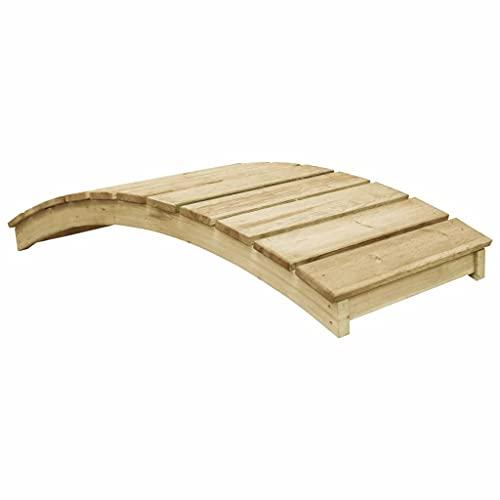 vidaXL Pin Imprégné Pont de Jardin 170x74cm Parterre de Fleurs Terrasse Jardin