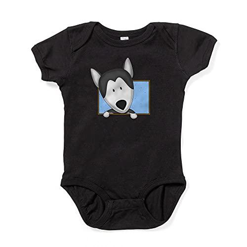 ABADI Body de bebé Husky siberiano de dibujos animados