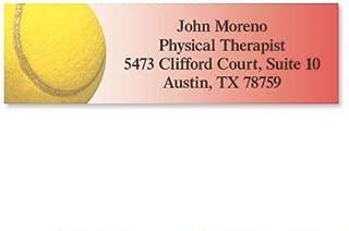 tennis address labels