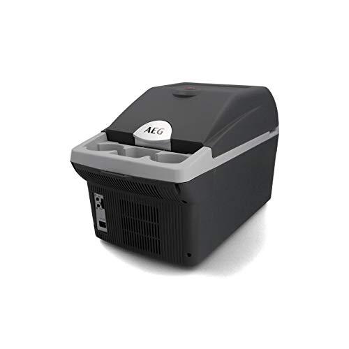 AEG Automotive Board-Bar BK 16 Thermoelektrische Kühl- und Warmhaltebox 16 Liter, 12 Volt für Auto und Steckdose, anschnallbar im PKW