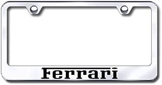Au-TOMOTIVE GOLD Ferrari Laser Etched Stainless Steel License Plate Frame