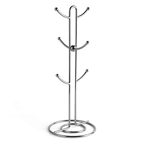 Sweese Mug Holder, Vintage Metal Wire Tree Stand for Coffee Mugs, Glasses, and Cups, 6 Mug Capacity, Silver