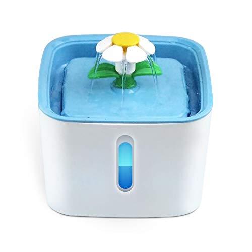 Hbao Fuente de Agua automática para Gatos, LED, USB eléctrico para Perros, Gatos, Bebedero silencioso para Mascotas, Cuenco alimentador de 2,5 l, dispensador de Fuente para Beber para Mascotas