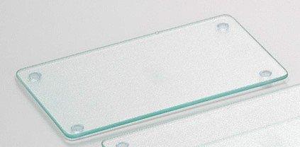 Kesper Glas Schneideplatte, Küchen Schneidebrett, mittel, ca. 30x20cm, leicht geriffelte Oberfläche