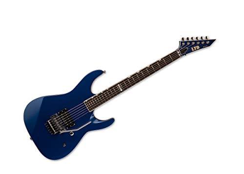 ESP LTD M-1 Custom '87 azul metálico oscuro con rosa floyd no empotrada y EMG PA-2 Boost