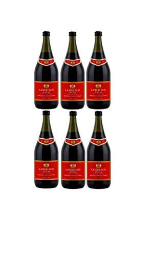 6 Flaschen Lambrusco Puglia a 1,5 L 8% vol. Lieblich Rotwein