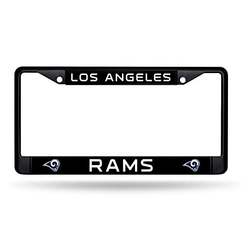 Rico Industries Los Angeles Rams Authentic Metal Black License Plate Frame Auto Truck Car