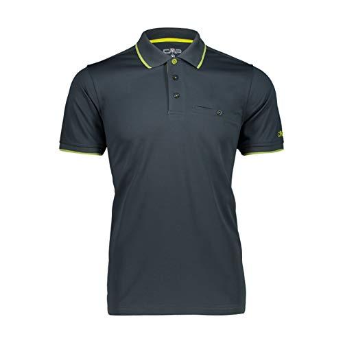 CMP Herren Quick-Drying Short-Sleeved Polo Shirt Poloshirt, Jungle-Cactus, 54