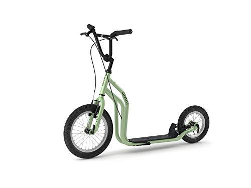 Yedoo City Scooter RunRun 16/12 Zoll grün | Tretroller mit Offroad-Reifen | Nachfolgemodell des City New