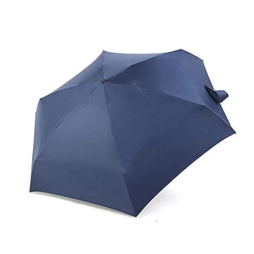 Mdsfe 18 Estilos 180g Ultraligero Bolsillo Mini Paraguas Lluvia A Prueba de Viento Durable 5 Paraguas Plegables Parasol Portátil con Protección Solar Fresca - con Superficie Negra H, a3