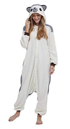 SAMGU Adult Pyjama Cosplay Tier Onesie Body Nachtwäsche Kleid Overall Animal Sleepwear Erwachsene Igel M