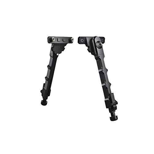 Tactical Aluminium M-Lok Bipod Side Mount Bipod Matte Black per Camara Airsoft Scope Hunting