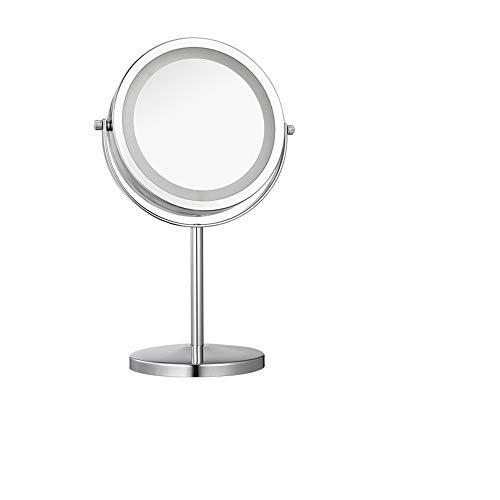 Schminkspiegel mit Lampe LED Desktop doppelseitige Ergänzung Licht Desktop-Kosmetikspiegel