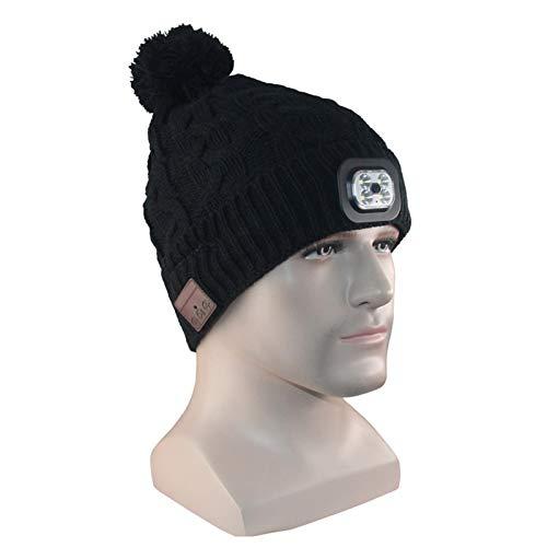 Sue-Supply Bluetooth Bonnet Chapeau Unisexe Sport Running Casque Enceintes Stéréo et Mic Mains Libres d'hiver Chapeau Tricoté sans Fil Écouteur Cap en Plein Air pour Hommes Femmes