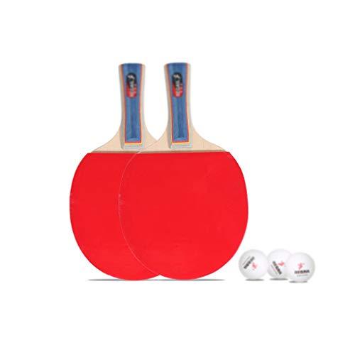 Great Deal! LFLLFLLFL Portable Ping Pong Racket Set, Training Table Tennis Rackets Beginner/Student/...