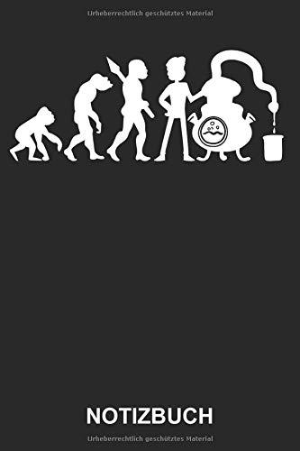 Notizbuch: Schnaps brennen Spirituosen Schnapsbrennen Schnapsbrennerei Alkohol Evolution | Lustiges Niedliches Tagebuch, Notizheft, Schreibheft | ca. A5 mit Linien | 120 Seiten liniert | Softcover