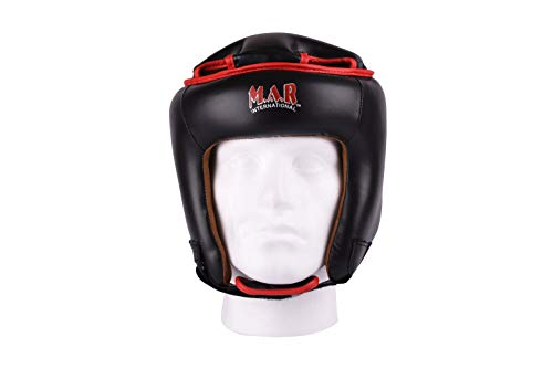 M.A.R International Ltd. Kickboxing Head Guard Boxing Thai Boxing Mma Muay Thai Taekwondo Karate Judo Training Junior Black Junior
