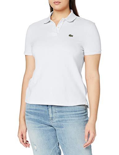 Lacoste PF7839 T Shirt Polo, Blanc, 44 para Mujer