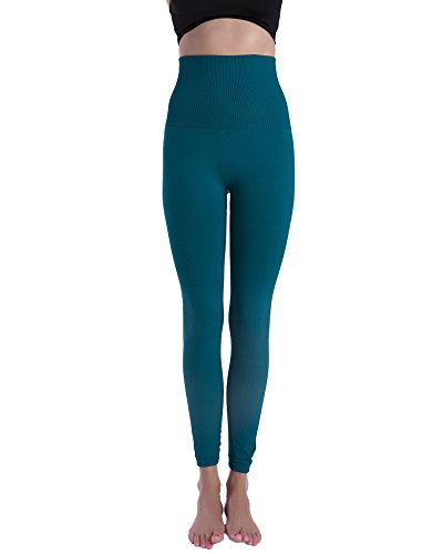 Homma Premium Thick High Waist Tummy Compression Slimming Leggings (Medium, F.Teal)