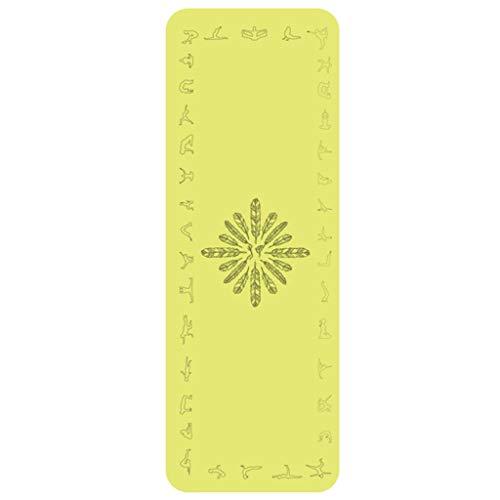 Yogamatte Naturkautschuk Fitnessmatte Baby Krabbelmatte Kindertanzmatte Trainingsmatte Hausmatte trocken und nass rutschfestes Tuch 183 * 66 cm Bodenmatte (Color : Yellow)