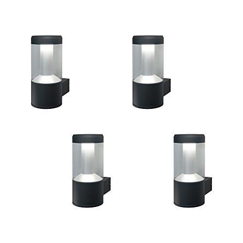 Osram Smart+ ZigBee LED Außen-/Wandleuchte, dimmbar, warmweiß bis tageslicht, RGB Farbwechsel, Alexa kompatibel, 4er Pack