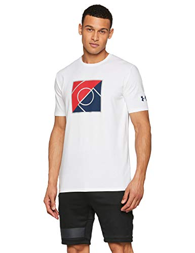Under Armour UA Top of The Key T-Shirt Homme, Blanc, FR (Taille Fabricant : XXL)