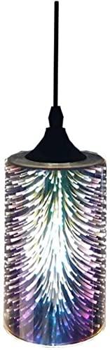 ADSVMEL Cristal Chandelier Industrial Moderno Vidrio Colgante Luz, Lámpara 3d Fuegos Artificiales Coloridos Creativo Drop Light Oficina Suspensión Restaurante Comedor Comedor Jardín Restaurante Negoci