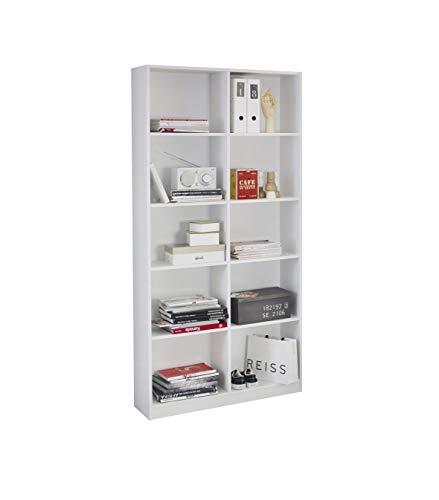 Rauch Möbel Minosa Regalelement, Weiß, inkl. 8 Regalböden, BxHxT 91x197x32 cm