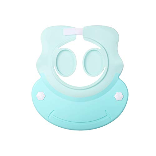 シャンプハット KATOOM シャワーキャップ 可愛い 耳カバー お風呂用品 入浴用品/入浴介助 マジックテープ サイズ調節可能 防水帽 子供 (ブルー)