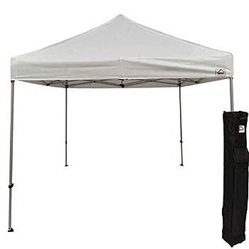 Impact Canopy 10 x 10 Pop Up Canopy Tent Straight Leg Shelter Steel Frame Roller Bag White