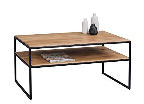 HomeTrends4You Mika 2 Couchtisch, Holz, braun, Länge 90cm, Breite 60cm, Höhe 45cm