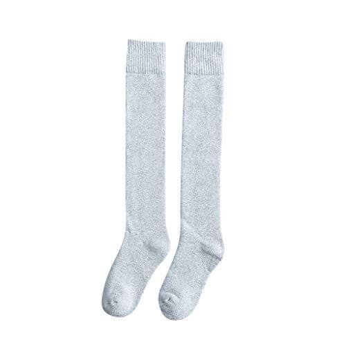 1 Para Kniestrümpfe Dicke Warme Thermo Lange Strümpfe Weiche Gestrickte Bodensocken Winter Schnee Slipper Socken