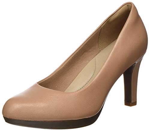 Clarks Damen Pumps, Beige (Praline Leather Praline Leather), 40 EU
