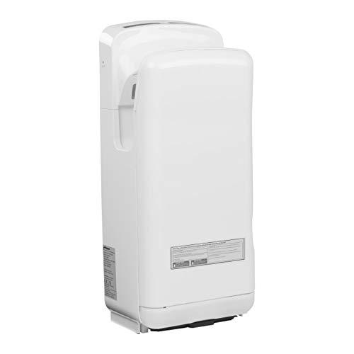 Physa Asciugamani Elettrico Automatico Asciugatore Mani da Bagno ORIA WHITE (Tempo di asciugatura 5-7 s, 28.000 rpm, Velocità del getto d'aria 86 m/s, Volume dell'aria 150 m³/h)
