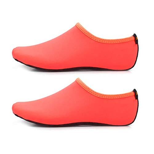 Dynamovolition Color sólido Hombres Mujeres Zapatos de Agua de Secado rápido Calcetines acuáticos Piscina de Ejercicios Playa Baile Natación Buceo Calcetines Antideslizantes