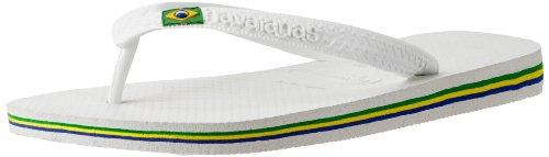 Havaianas Men's Brazil Flip Flop Sandal, White, 9