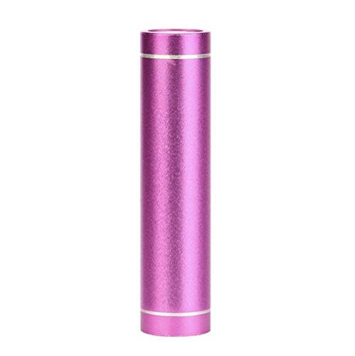 Gaddrt 3000mAh Portable Externe USB Power Bank Batterie Chargeur pour téléphone Portable (Rose Vif)