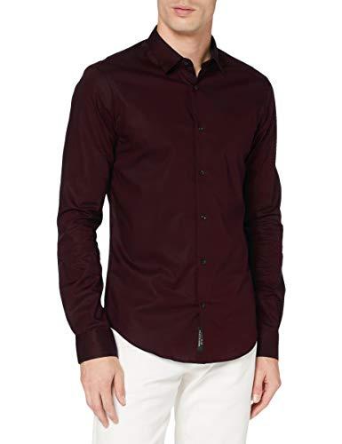Scotch & Soda Herren Slim FIT-Classic Cotton/Elastane Shirt, Bordeaubergine 3499, L