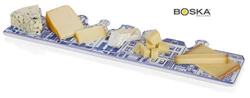 Boska Delft Kaas en Chocolade Board, Keramisch, Wit/Blauw, 45,5 x 14,5 x 2 cm