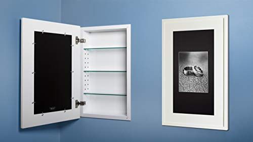 14x24 Recessed Concealed Medicine Cabinet (White)