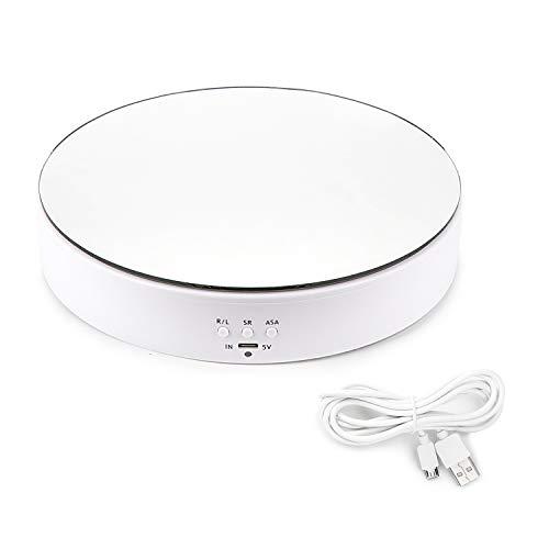Leadleds - Soporte giratorio para mesa giratoria eléctrica, superficie de espejo superior...