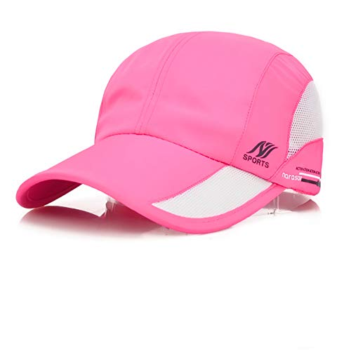 Sport Cap Summer Quick Drying Sun Hat UV Protection Outdoor Cap for Men, Women Pink/Black