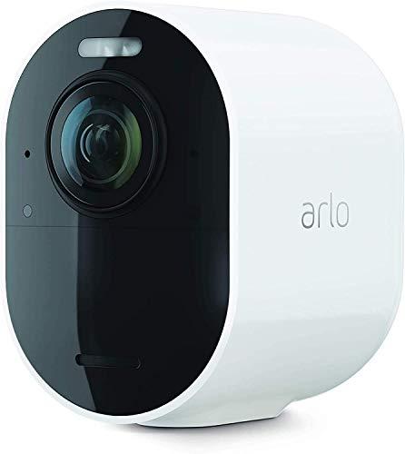 Arlo Ultra 2 Spotlight camera de surveillance Wifi, Sans fil, vidéo 4K et HDR, Vision nocturne, audio bidirectionnel, détection de mouvement, champ de vision à 180°, SmartHub requis, VMC5040